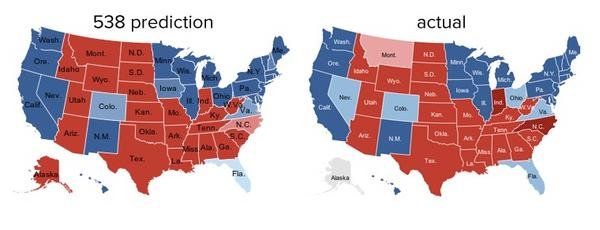 Side-by-side electoral maps